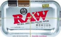 Поднос RAW Metal Rolling Tray Metallic Silver Small